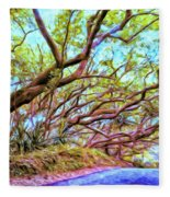 Tree Tunnel Near Isaac Hale Beach Fleece Blanket