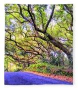 Tree Tunnel On The Big Island Fleece Blanket