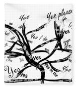 Tree Yes Tree Fleece Blanket