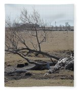 Trees And Early Spring Creek Fleece Blanket