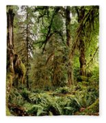 Trees At Olympic National Forest Fleece Blanket