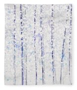 Trees At Twilight Xx Fleece Blanket