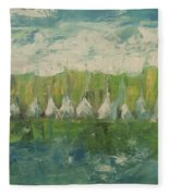 Trees By The River Fleece Blanket