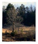 Trees By The Wayside Fleece Blanket