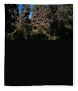 Trees Covered With Monarch Butterflies Fleece Blanket
