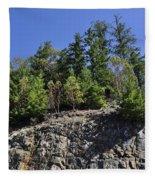 Trees Growing On The Edge Fleece Blanket