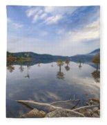 Trees In The Lake Fleece Blanket