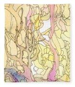 Trees In The Morning Fleece Blanket