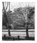 Trees In The Park Fleece Blanket