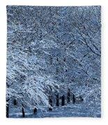 Trees Of Winter Fleece Blanket