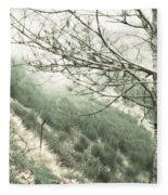 Trees On A Mountain Fleece Blanket