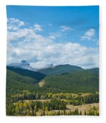 Trees On Canadian Rockies Along Route Fleece Blanket