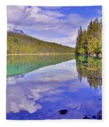 Trees Reflected At Valley Of The Five Lakes Fleece Blanket