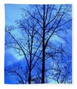 Trees So Tall In Winter Fleece Blanket
