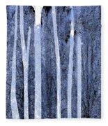 Trees Vertical Fleece Blanket