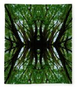 Treetops Abstract Fleece Blanket