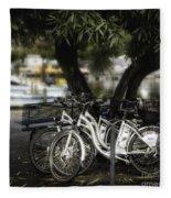 Tres Bikes Fleece Blanket