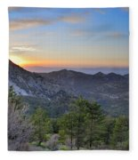 Trevenque Mountain At Sunset  2079 M Fleece Blanket