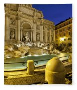 Trevi Fountain Fleece Blanket