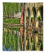 Treviso Canal And Reflections Fleece Blanket