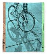 Tri-coloured Bicycle Print Fleece Blanket