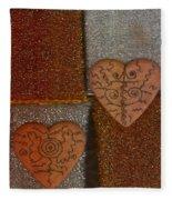 Tribal Hearts Fleece Blanket
