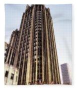 Tribune Tower Facade Fleece Blanket