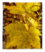 Tribute To Autumn Fleece Blanket