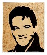 Tribute To Elvis Presley Fleece Blanket