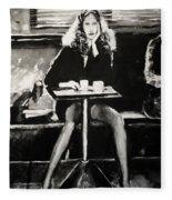 Tribute To Helmut Newton Fleece Blanket