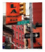 Tribute To Little Italy - Hester And Mulberry Sts - N Y Fleece Blanket