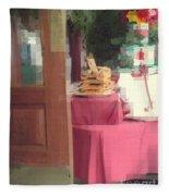 Little Italy - Rustic Door Fleece Blanket