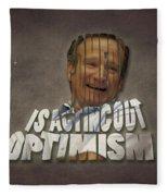 Tribute To Robin Williams Typography Fleece Blanket