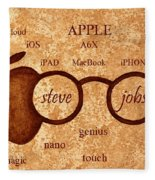 Tribute To Steve Jobs 2 Digital Art Fleece Blanket