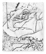 Tricia's Rose Dm  Fleece Blanket