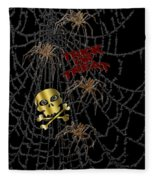 Trick Or Treat Halloween Digital Artwork Fleece Blanket