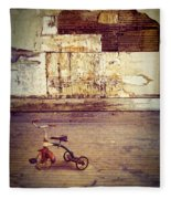 Tricycle In Abandoned Room Fleece Blanket
