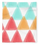 Trifold- Colorful Abstract Pattern Painting Fleece Blanket