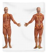 Trigger Points On The Human Body Fleece Blanket