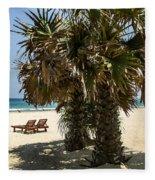 Trincomalee Palms Fleece Blanket