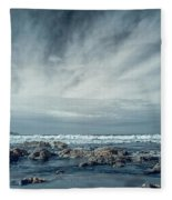 Trinidad State Beach In Infrared Fleece Blanket