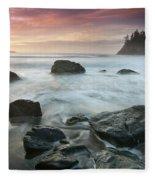 Trinidad Sunset Seascape Fleece Blanket