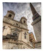 Trinita Dei Monti Church Fleece Blanket