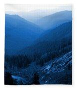 Trinity #2 Enhanced In Blue Fleece Blanket