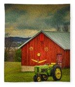 Trip To The Happy Farm Fleece Blanket