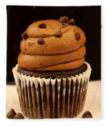 Triple Chocolate Cupcake Fleece Blanket