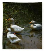 Triple Ducks Fleece Blanket