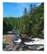 Triple Falls North Carolina Fleece Blanket