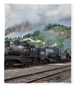 Triple Header In Color Fleece Blanket