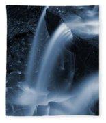 Triple Plunge Twilight Waterfall Fleece Blanket